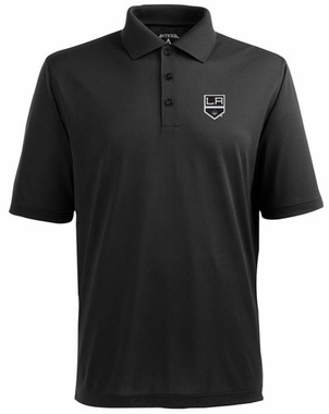 Los Angeles Kings Mens Pique Xtra Lite Polo Shirt (Color: Black)