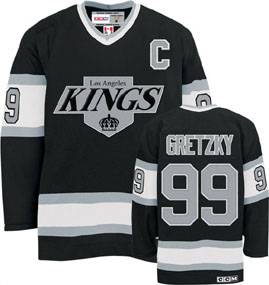 Los Angeles Kings Wayne Gretzky CCM Team Color Premier Jersey - X-Large