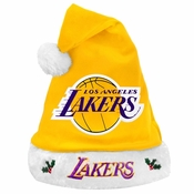 891a6adae3276 Los Angeles Lakers 2012 Team Logo Plush Santa Hat