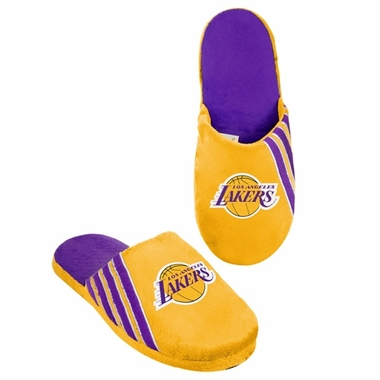 Los Angeles Lakers 2012 Team Stripe Logo Slippers