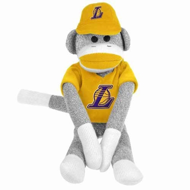 Los Angeles Lakers 2013 27 Uniform Sock Monkey