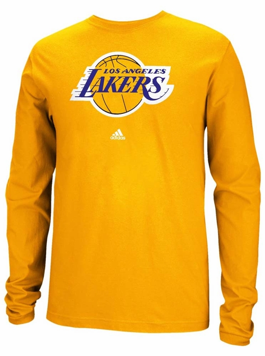 Los angeles lakers adidas full primary logo long sleeve t for Los angeles long sleeve shirt
