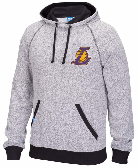 los angeles lakers adidas originals men 39 s pullover hooded. Black Bedroom Furniture Sets. Home Design Ideas