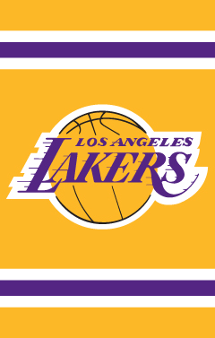 Los Angeles Lakers Applique Banner Flag