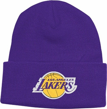 Los Angeles Lakers Basic Logo Cuffed Knit Hat