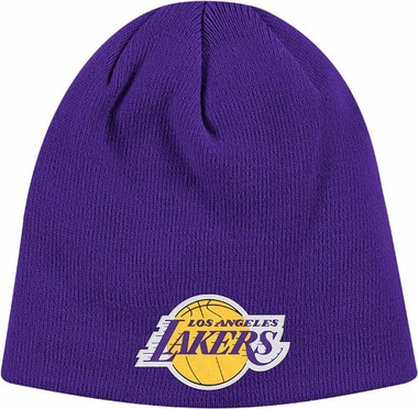 Los Angeles Lakers Basic Logo Uncuffed Knit Cap