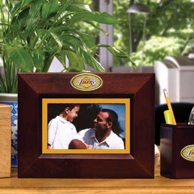Los Angeles Lakers BROWN Landscape Picture Frame