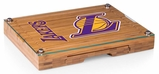 Los Angeles Lakers Concerto Glass Top Cheese Board & Tools (Bamboo)