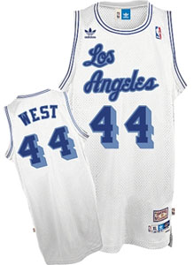 Los Angeles Lakers Jerry West Adidas White Throwback Replica Premiere Jersey - XX-Large