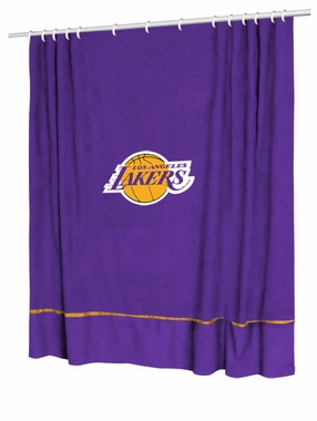 Los Angeles Lakers Jersey Material Shower Curtain
