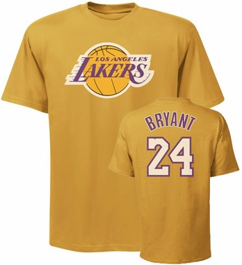 Los Angeles Lakers Kobe Bryant Distressed Player Name and Number T-Shirt