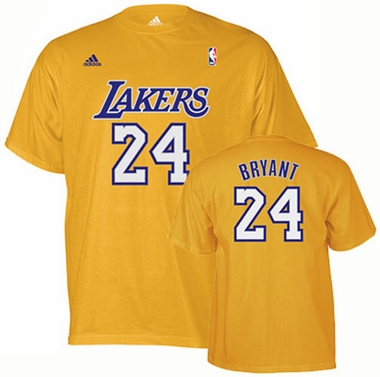 Los Angeles Lakers Kobe Bryant Player Name and Number T-Shirt