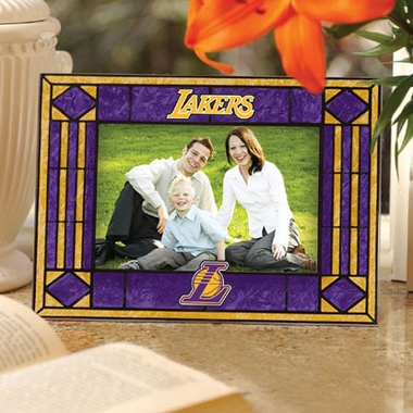 Los Angeles Lakers Landscape Art Glass Picture Frame