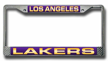 Los Angeles Lakers Laser Etched Chrome License Plate Frame