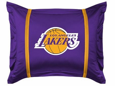 Los Angeles Lakers SIDELINES Jersey Material Pillow Sham