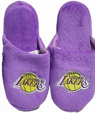 Los Angeles Lakers Womens Jeweled Slippers