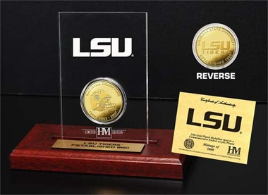 Louisiana State Tigers Louisiana State University 24KT Gold Coin Etched Acrylic