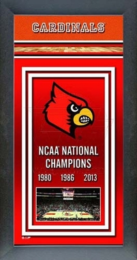 Louisville Cardinals Basketball Framed 2013 NCAA Men's Basketball National Champions Banner -