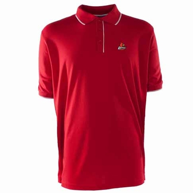 Louisville Mens Elite Polo Shirt (Color: Red)