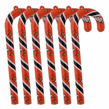 Louisville Set of 6 Candy Cane Ornaments