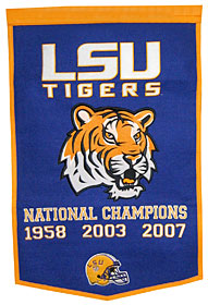 "LSU 24""x36"" Dynasty Wool Banner"