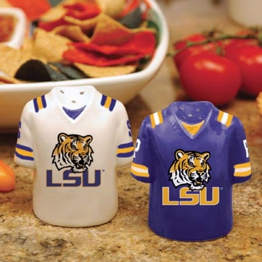 LSU Ceramic Jersey Salt and Pepper Shakers