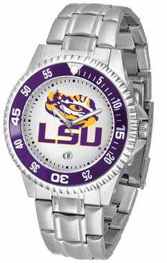 LSU Competitor Men's Steel Band Watch