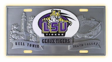 LSU Deluxe Collector's License Plate