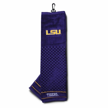 LSU Embroidered Golf Towel