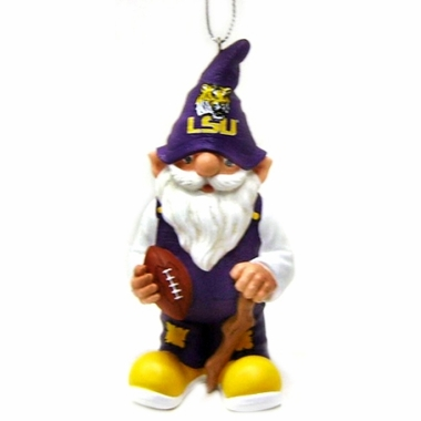 LSU Gnome Christmas Ornament