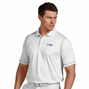 LSU Mens Icon Polo (Color: White)