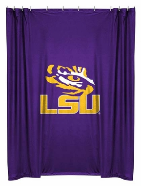LSU Jersey Material Shower Curtain