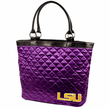 LSU Quilted Tote