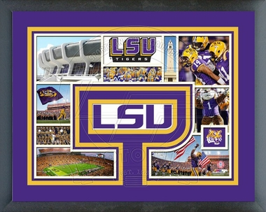 LSU Tigers Framed Milestones & Memories