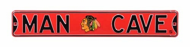 Man Cave Chicago Blackhawks Street Sign