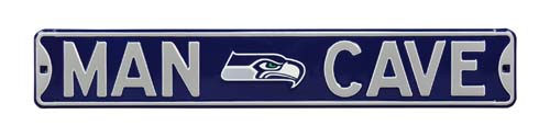 Man Cave Store Seattle : Man cave seattle seahawks street sign