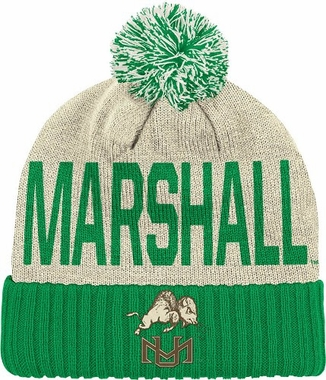 Marshall Wordmark & Logo Pom Knit Hat