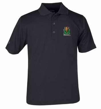 Marshall YOUTH Unisex Pique Polo Shirt (Color: Black)