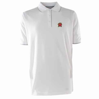 Maryland Mens Elite Polo Shirt (Color: White)