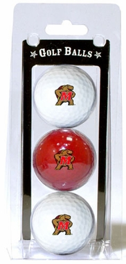 Maryland Set of 3 Multicolor Golf Balls