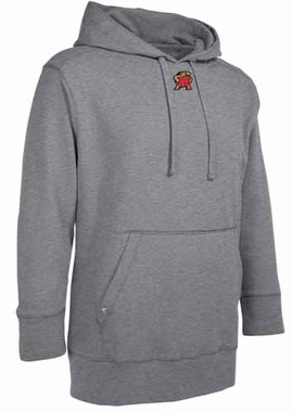 Maryland Mens Signature Hooded Sweatshirt (Color: Silver)