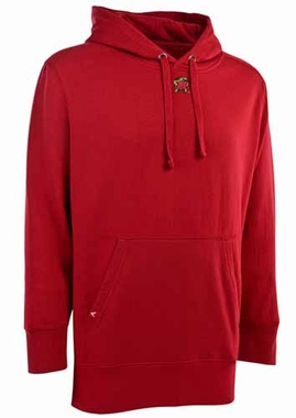 Maryland Mens Signature Hooded Sweatshirt (Color: Red)