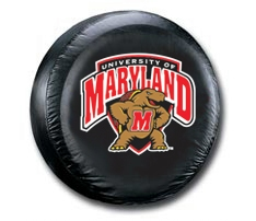 Maryland Terrapins Black Tire Cover - Standard Size