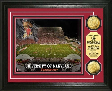 Maryland Terripans University of Maryland Stadium Gold Coin Photo Mint