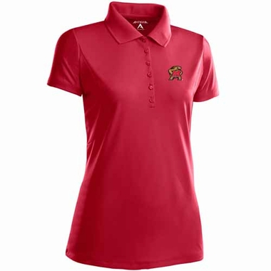 Maryland Womens Pique Xtra Lite Polo Shirt (Color: Red)