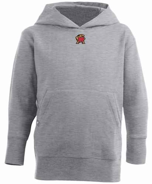 Maryland YOUTH Boys Signature Hooded Sweatshirt (Color: Gray)