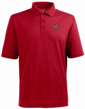 Maryland YOUTH Unisex Pique Polo Shirt (Color: Red)