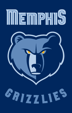 Memphis Grizzlies Applique Banner Flag