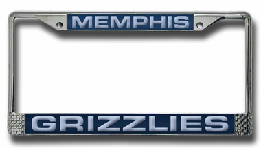 Memphis Grizzlies Laser Etched Chrome License Plate Frame