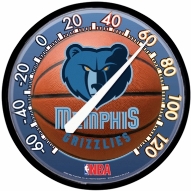 Memphis Grizzlies Round Wall Thermometer